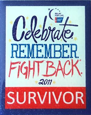 Diana Furr survivor pin